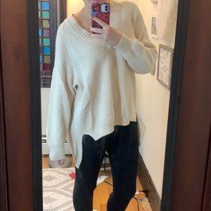 Express Cream Oversized Sweater